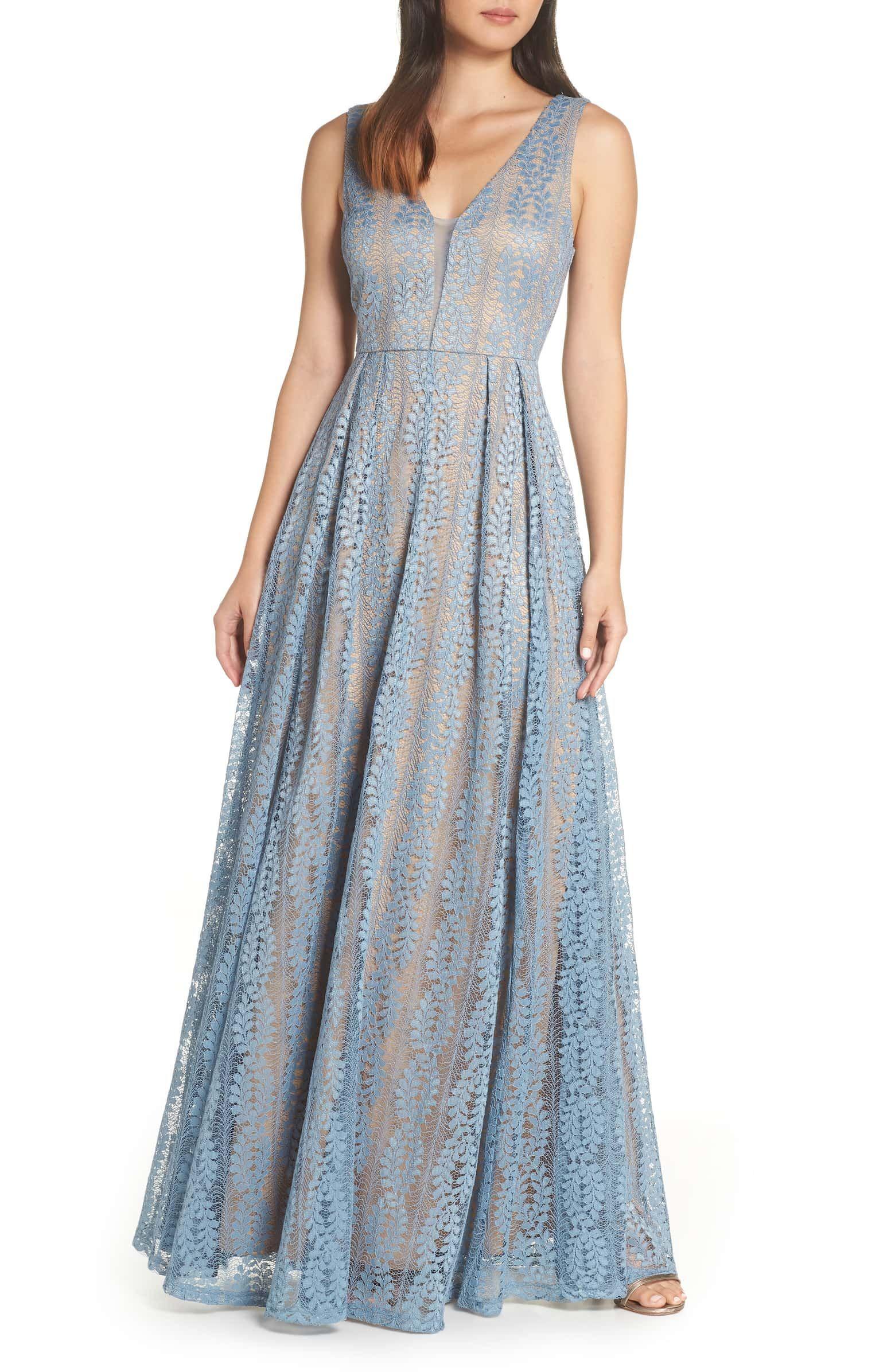edd54fe51db Eliana Lace V-Neck Gown