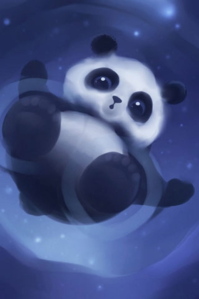 Free Download Floating Panda IPhone Wallpaper