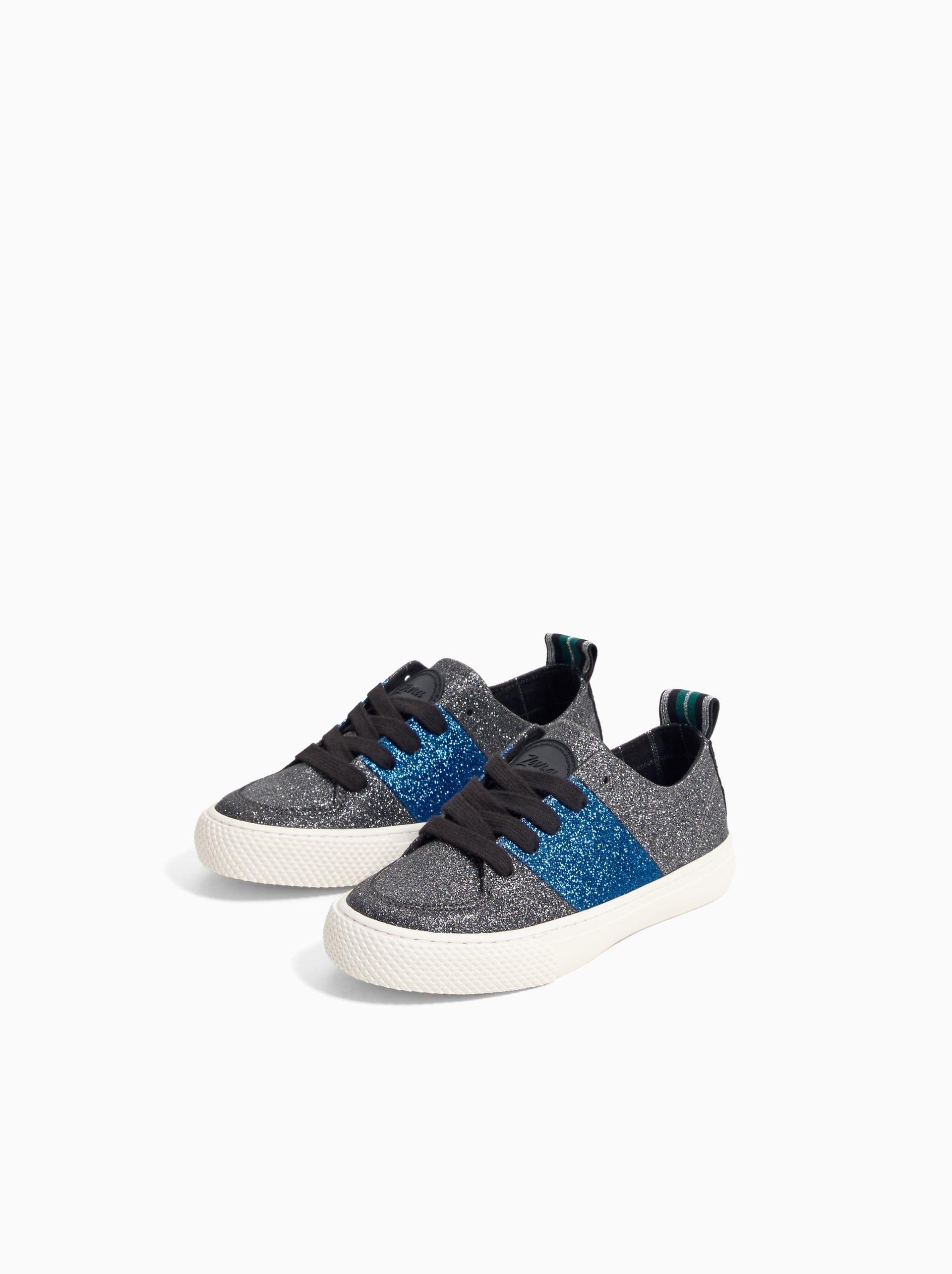 Zara | Plimsolls, Glitter sneakers