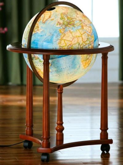 Kingsley National Geographic Illuminated Floor Standing World Globe Free Shipping And Handling Globe Floor Standing Globes Globe Furniture