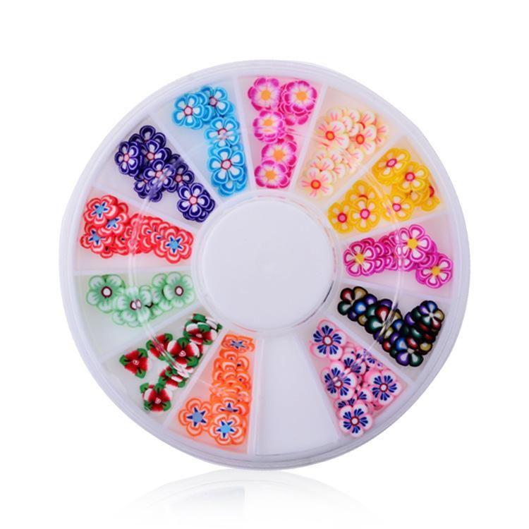 1Box AB Beige Metal Edge Glitter Nail Beads Studs Beauty Charm Nail ...