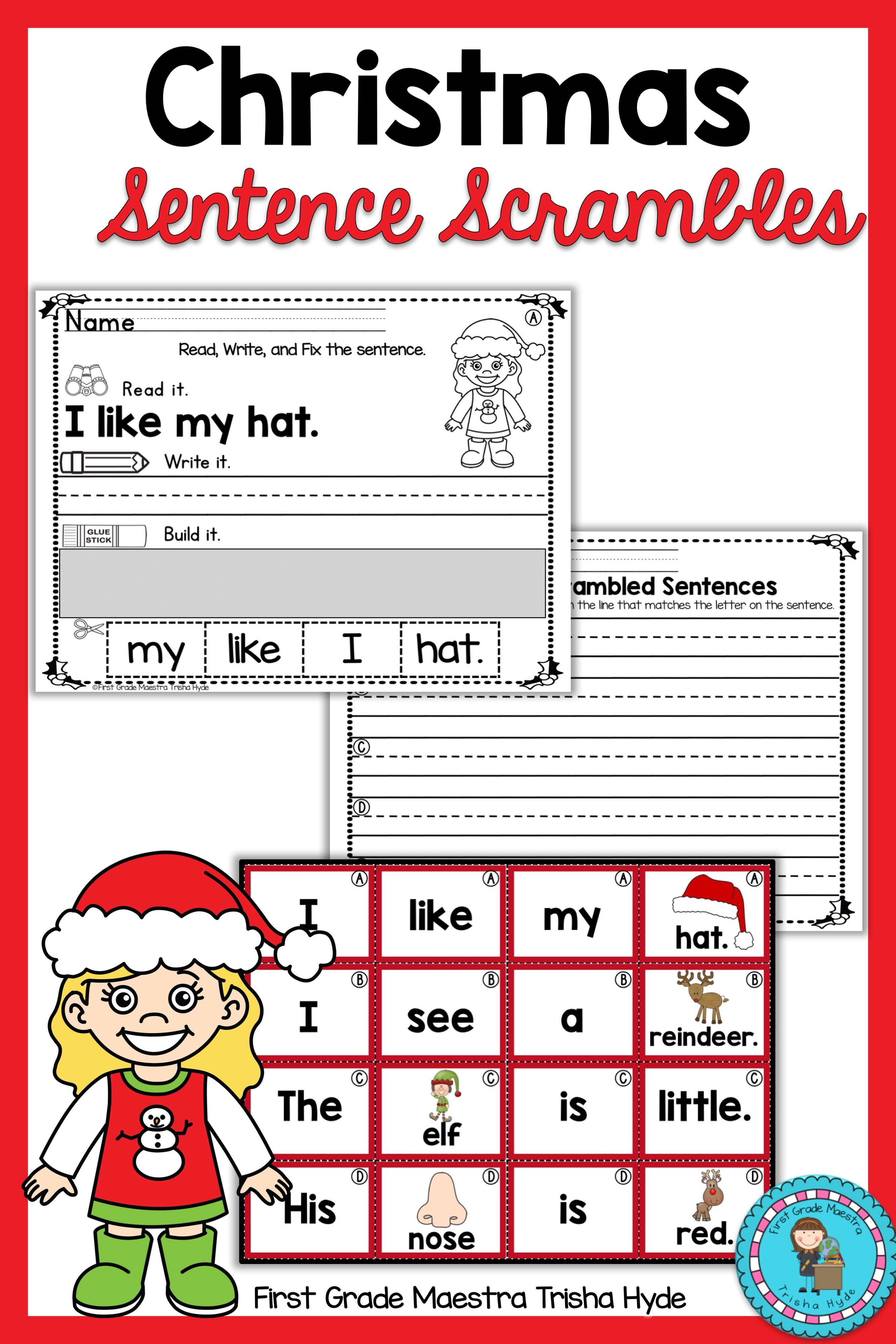 Christmas Sentence Scrambles With Images