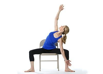 destress instantly with this easy chair yoga flow  chair