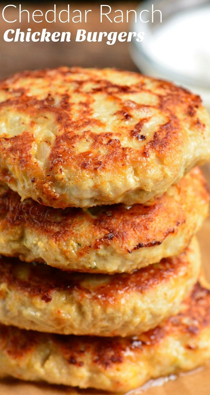 Juicy chicken burgers made with ground chicken and