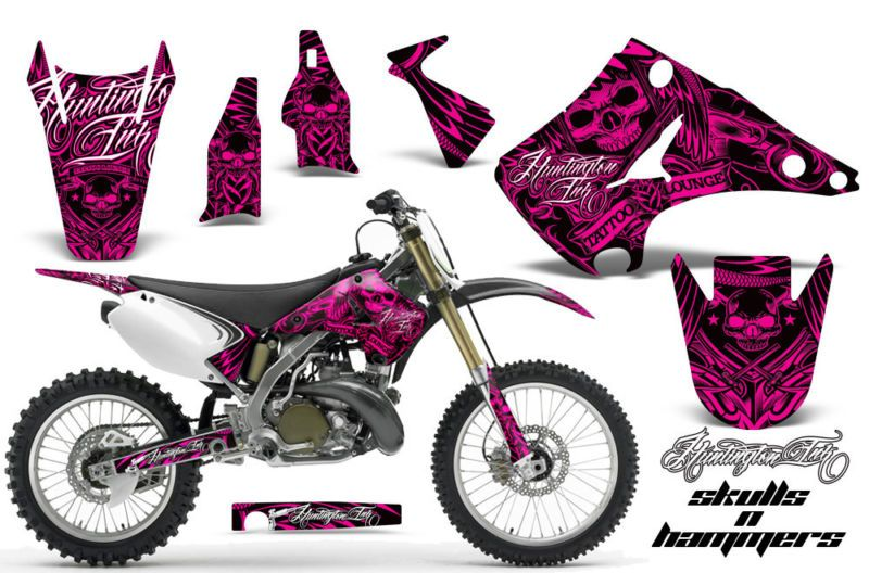 AMR Racing Dirt Bike Motorcycle Graphic Decal Kit Kawasaki KX - Motorcycle decal graphics