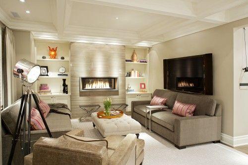 Vizzini Contemporary Family Room Toronto Sitting Room Design Contemporary Family Rooms Modern Living Room Interior