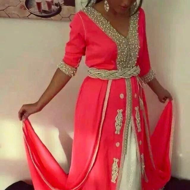 Caftan Marocain Rouge : Collection 2015 Vente en Ligne
