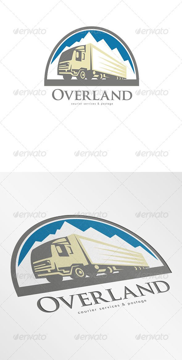 Overland Courier Services Logo Service Logo Graphic Design