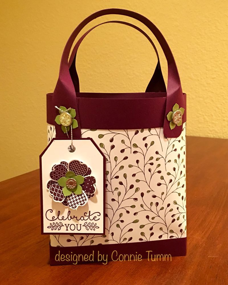 Little Totebag for Cards - Instructions!! (Connie's blog)