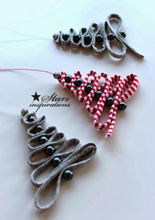 arbol navidad adornos con tela - DIY Navidad con niños Navidad