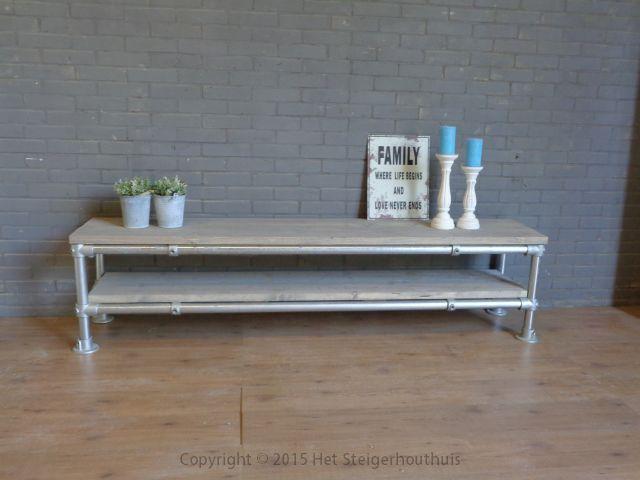 TV meubel steigerbuis     het Steigerhouthuis   Slaapkamer ideeën ...