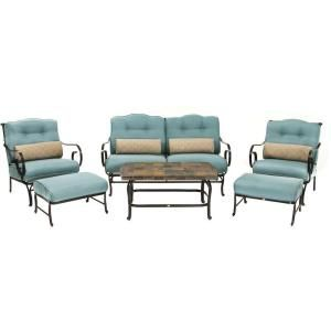 Swell Hanover Oceana 6 Piece Patio Lounge Seating Set With Nepal Machost Co Dining Chair Design Ideas Machostcouk