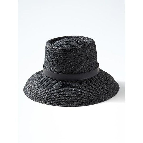 Banana Republic Two Tone Braided Sun Hat ( 35) ❤ liked on Polyvore  featuring accessories fd256612580e