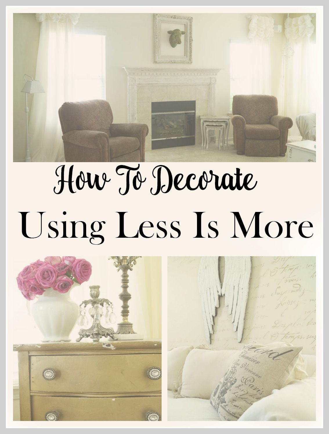 Good Home Decor Ideas Using Less Is More
