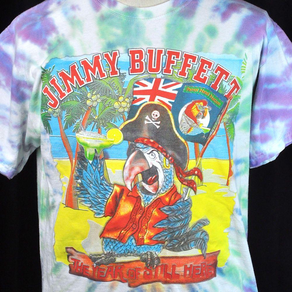 Jimmy Buffett Parrot Head 2012 Concert Tie Dye Tshirt