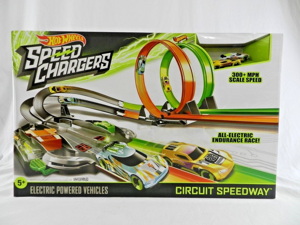 New Hot Wheels Speed Chargers Circuit Speedway Trackset Electric