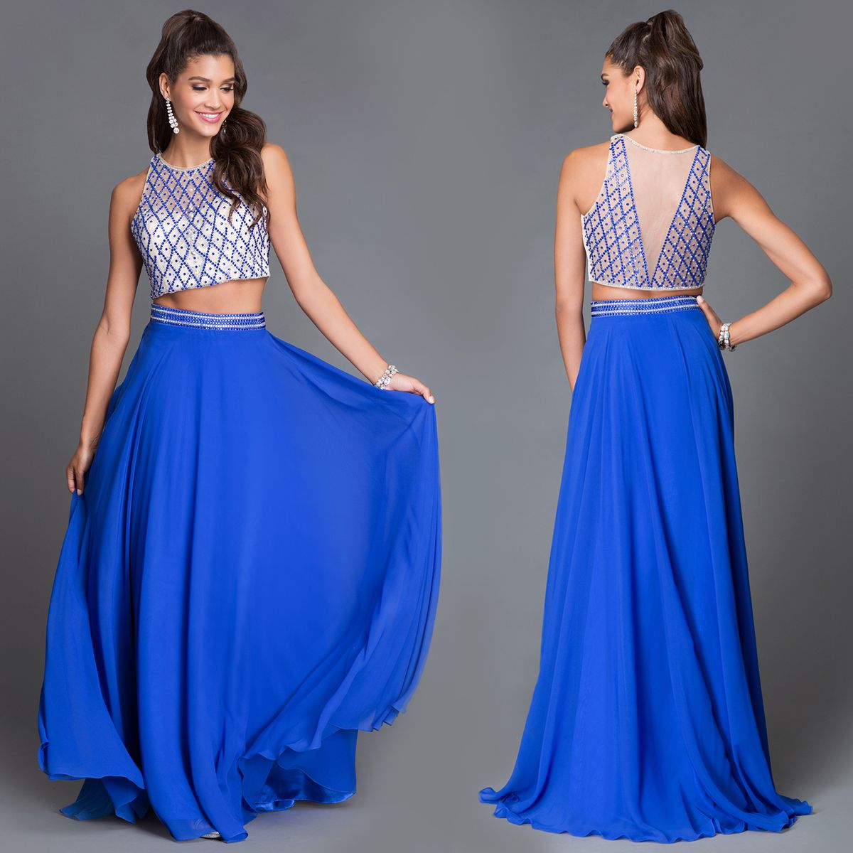 Dave And Johnny Royal Blue Two Piece Formal Dress Formalprom