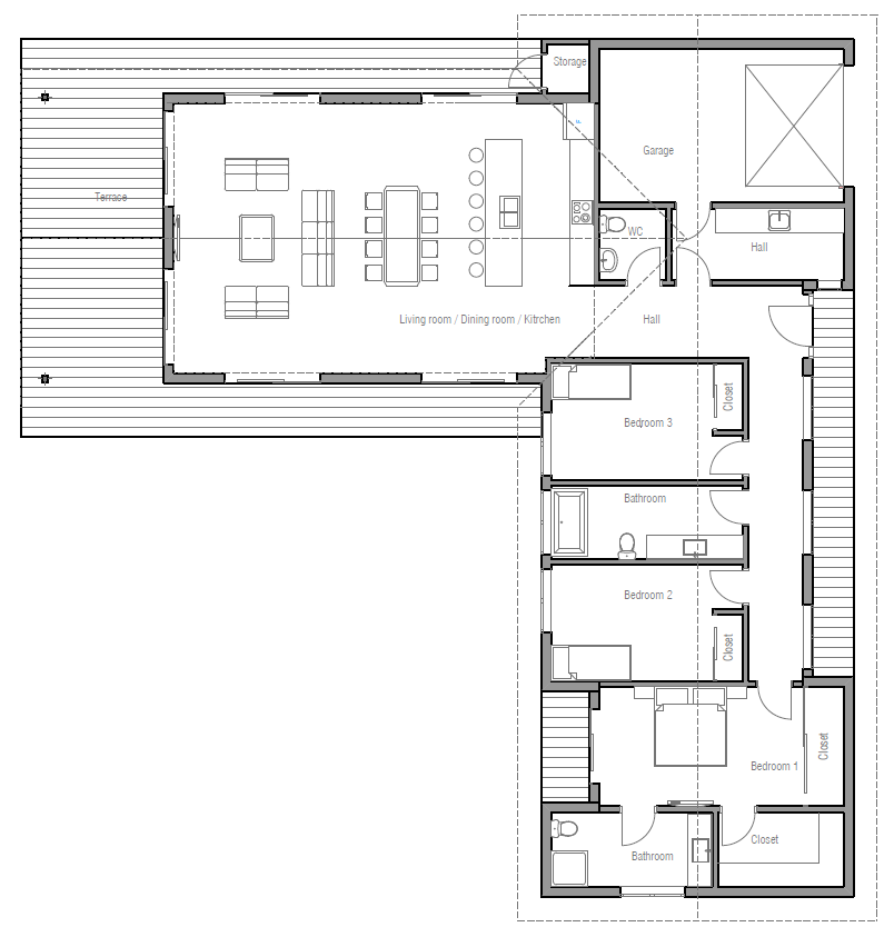 House Design House Plan Ch331 10 Modern House Plans Floor Plans Ranch L Shaped House