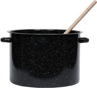 cleaning enamel cookware