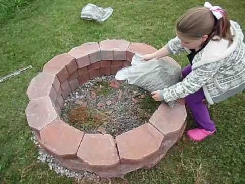 How To Easily Build A Fire Pit Youtube Make A Fire