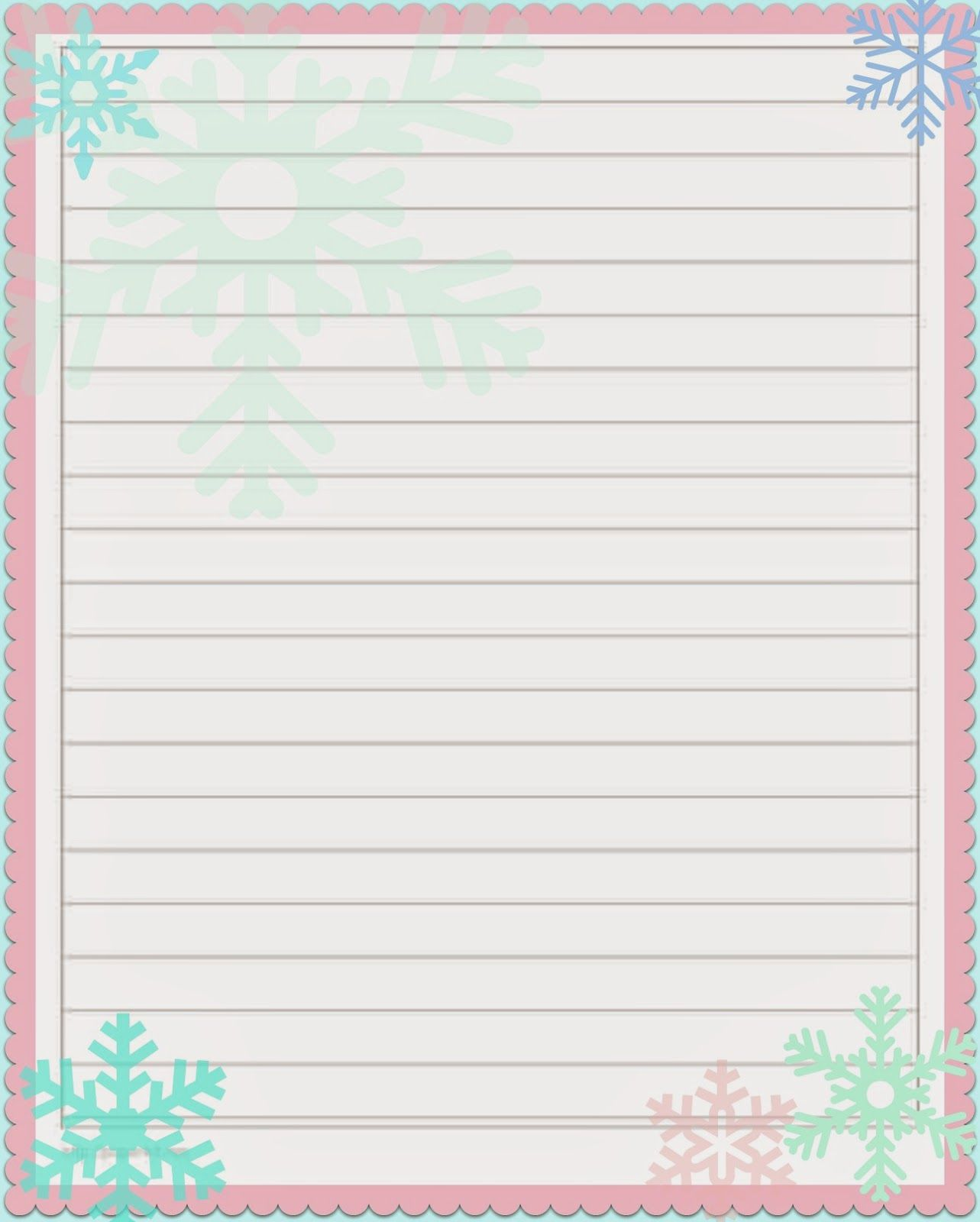 lined holiday printable paper 5x8 | best photos of cute printable