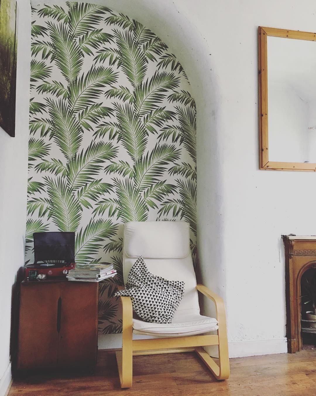 Arthouse Tropical Palm Wallpaper Palm wallpaper, Home