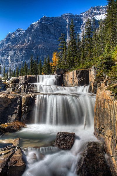 The Giant Steps Lake Louise Ab More Dream Big Travel More Dream Big Live Tiny Things To Do In Banff With Images Cool Places To Visit Beautiful Waterfalls Nature