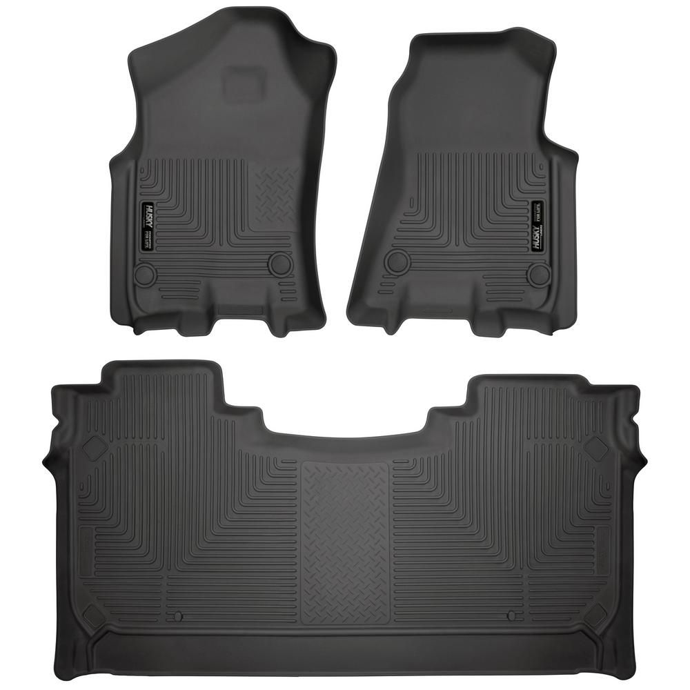 Husky Liners Front and 2nd Seat Floor Liners Fits 2019 Ram