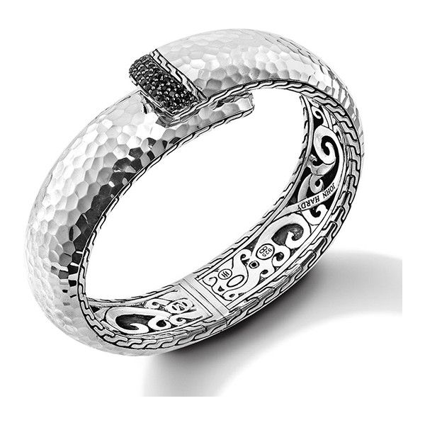 John Hardy Wide Lava Sterling Silver Kick Cuff with Black Sapphires g4LqGl
