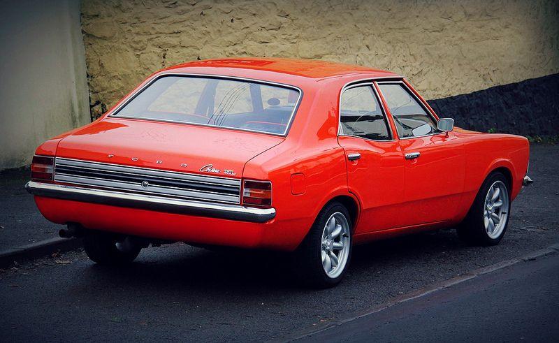 Bright Orange Ford Cortina Xl Mk3 Ford Classic Cars Classic