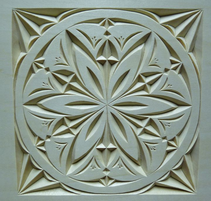 Wood carving patterns chip carvers will never know about for Best wood for chip carving