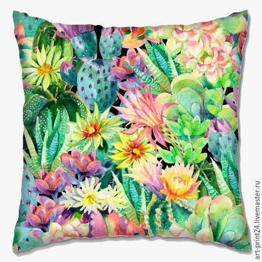 "Купить Подушка декоративная ""Яркие краски"" - комбинированный, Подушки, подушки декоративные, подушки диванные"