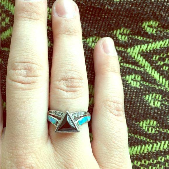 Dark Side of the Moon SterlingSilver/Gemstone Ring This