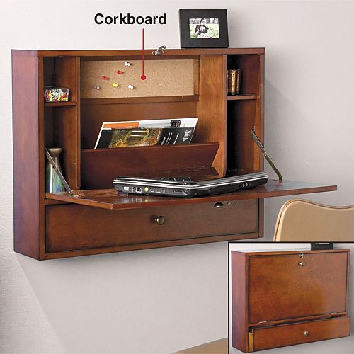 Wall Mount Laptop Desk The Beautiful Brown Mahogany Desk