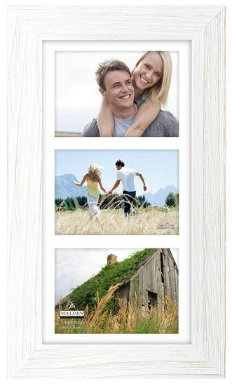 3 opening 5x7 rough white picture frame | White picture frames ...