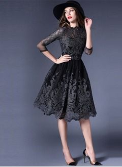 Schwarzes kleid lange armel ruckenausschnitt