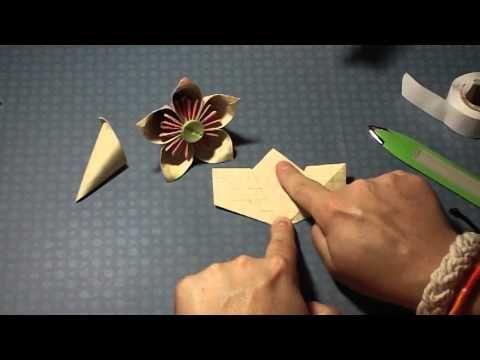 Great video for making a folder paper flower papercrafts great video for making a folder paper flower origami mightylinksfo