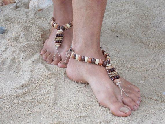 Barefoot Sandals for men Handmade Beach Shoes Hippie