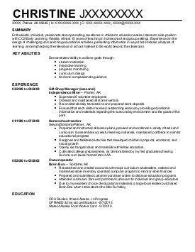Find Graded Alaska Palmer Childcare Resume Examples Great