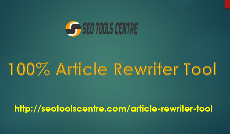 SEO Tools Centre Free Article Rewriter is the best and