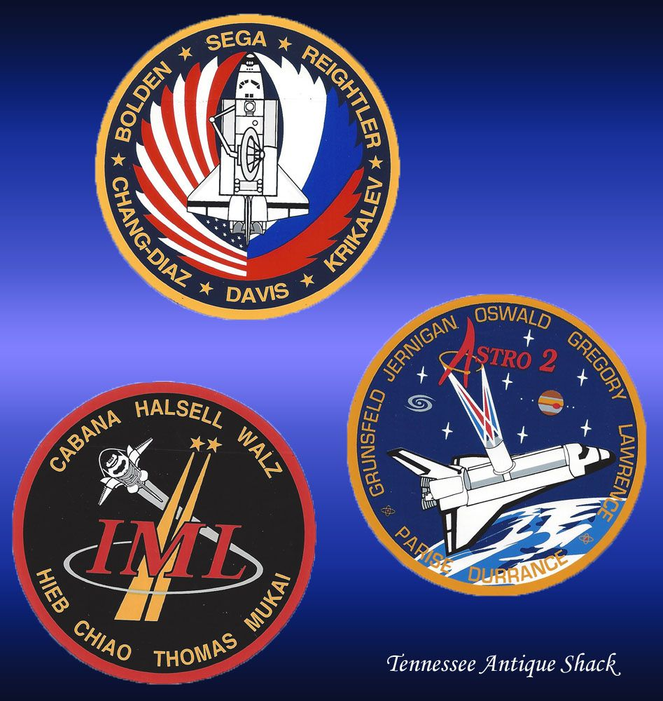 NASA crew patch decal stickers, set of 3. For sale at ...
