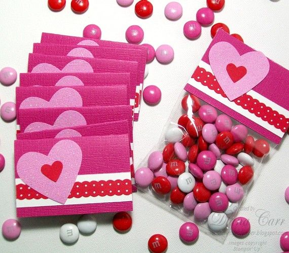 Valentine\'s Day Treat Bags and Toppers - Set of 24 Glitter Heart ...