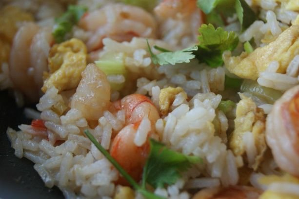 Scampi fried rice - myfoodpassion