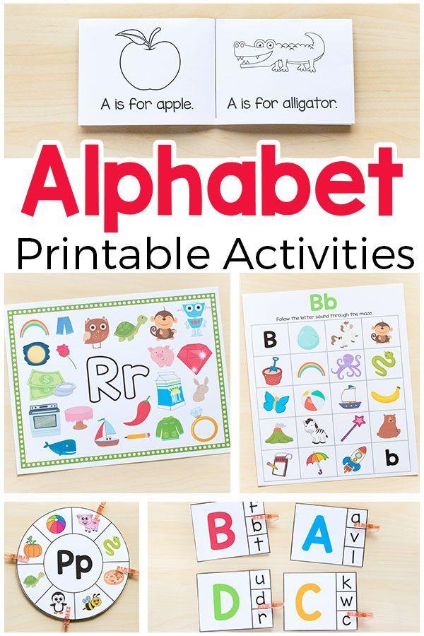 Alphabet Printables and Activities for Preschool and Kindergarten   Kind