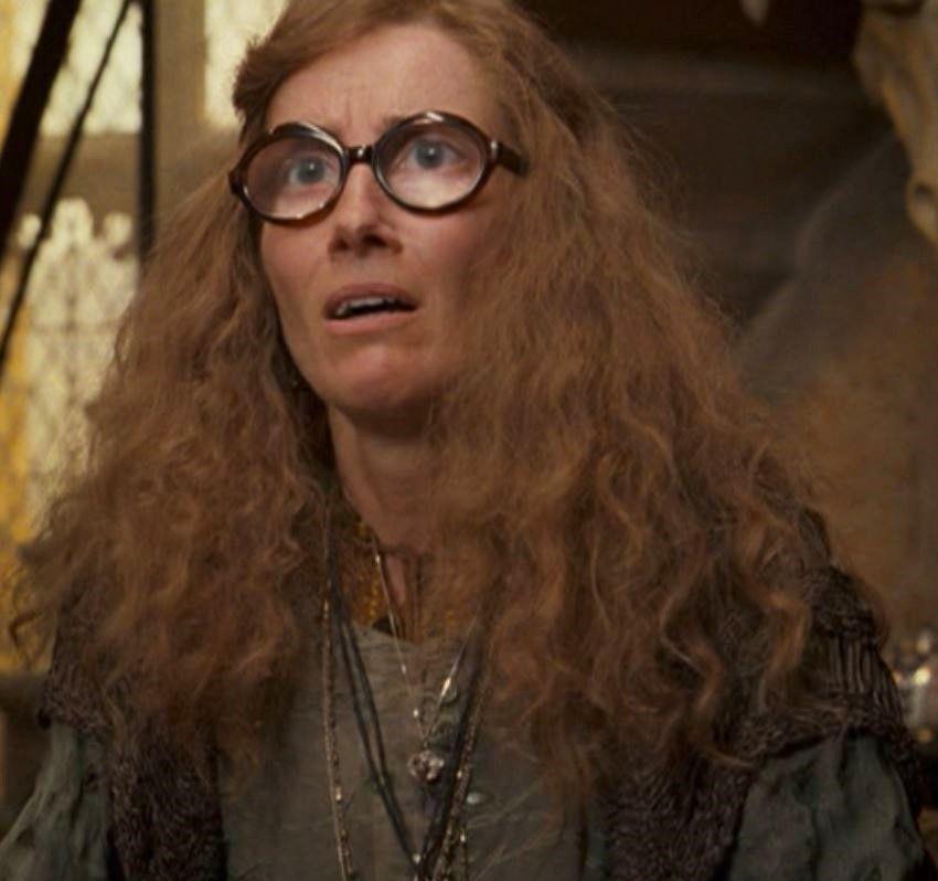 Emma Thompson As Professor Sybil Trelawney Harry Potter Cursed Child Harry Potter Series Hogwarts Professors