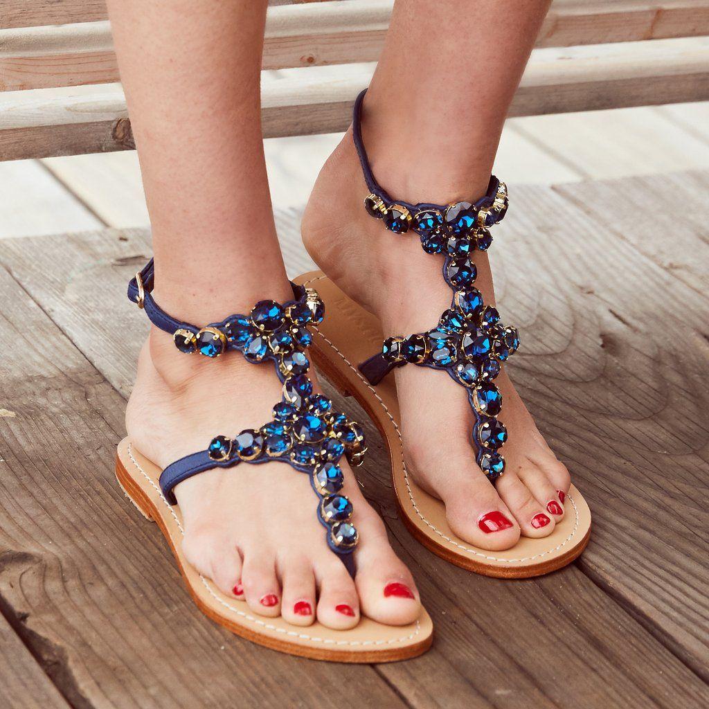 1016dd5e8160 Mystique Women s Leather Jeweled Sandals - Vancouver – Mystique Sandals
