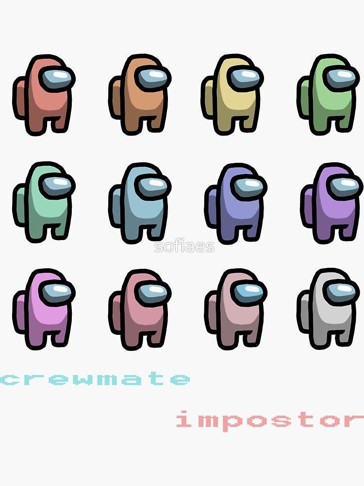 Pastel Rainbow Among Us Characters Cute Patterns Wallpaper Wallpaper Iphone Disney Princess Cute Wallpaper For Phone