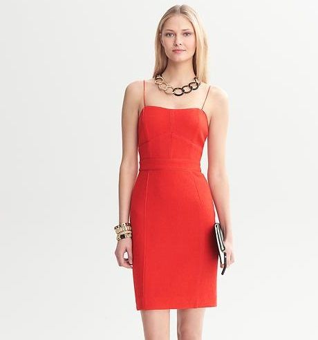 banana republic piped corset dress with images  corset