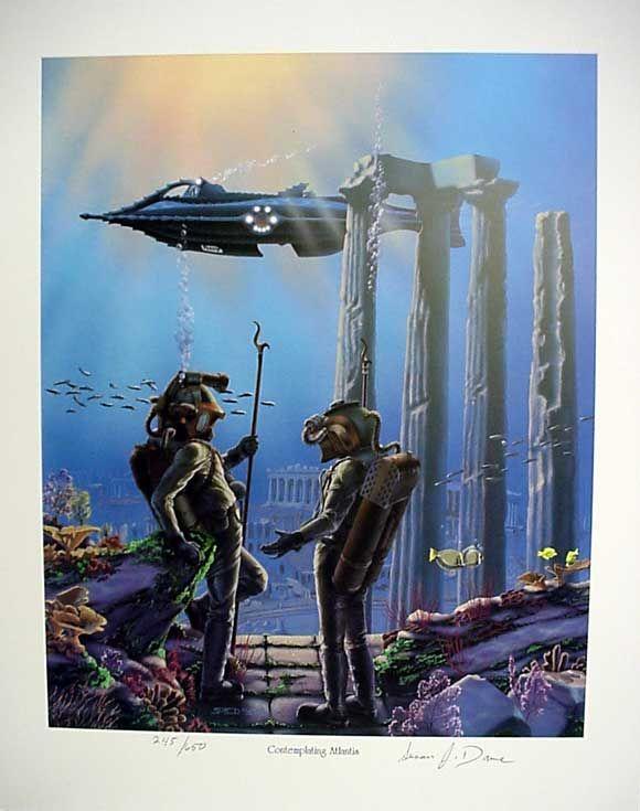 20,000 Leagues Under The Sea Contemplating Atlantis Print by Sue Dawe | Leagues  under the sea, Under the sea, Deep sea diver art