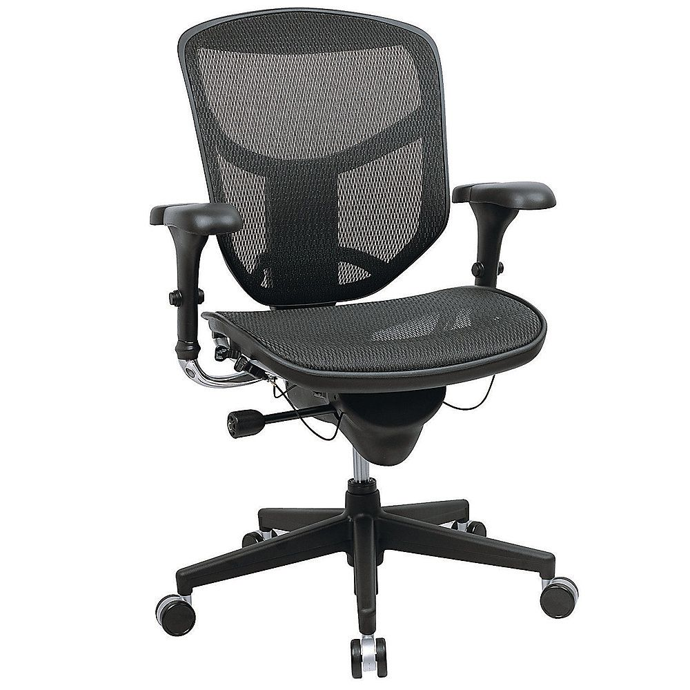 Realspace Pro Quantum Mesh Mid Back Task Chair 43 3 4h X 29 1 2w X 28d Black 269 99 Office Chair Contemporary Home Office Furniture Mesh Office Chair